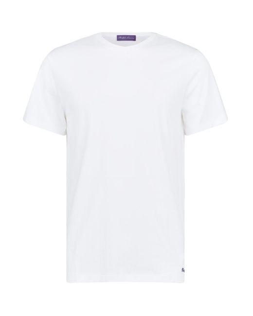 Ralph Lauren Purple Label - White Cotton T-shirt for Men - Lyst
