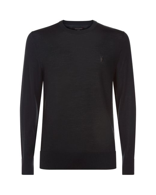 AllSaints | Mode Merino Sweater, Green, M for Men | Lyst