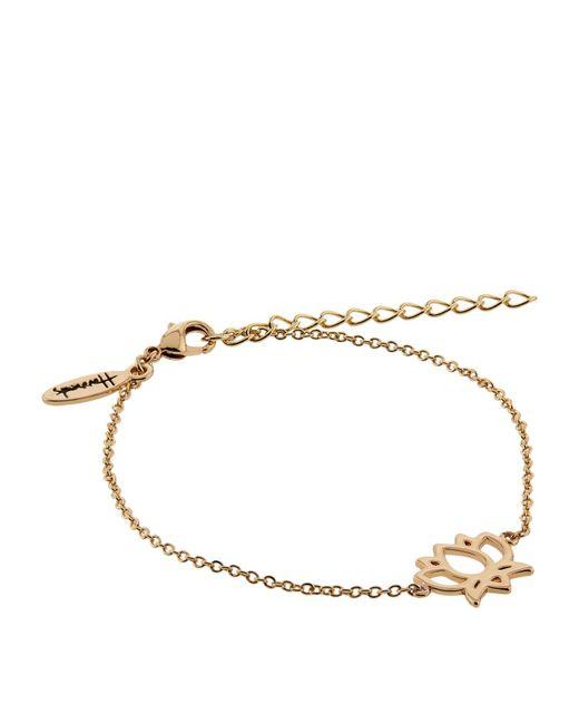 Harrods | Metallic Gold Plated Lotus Flower Bracelet | Lyst