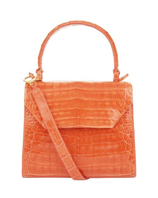 Nancy Gonzalez - Orange Small Crocodile Lily Cross Body Bag - Lyst