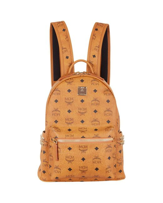 MCM - Brown Small Stark Backpack - Lyst