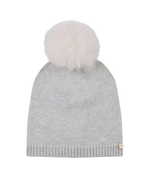 Yves Salomon - Gray Fox Fur Pompom Hat - Lyst