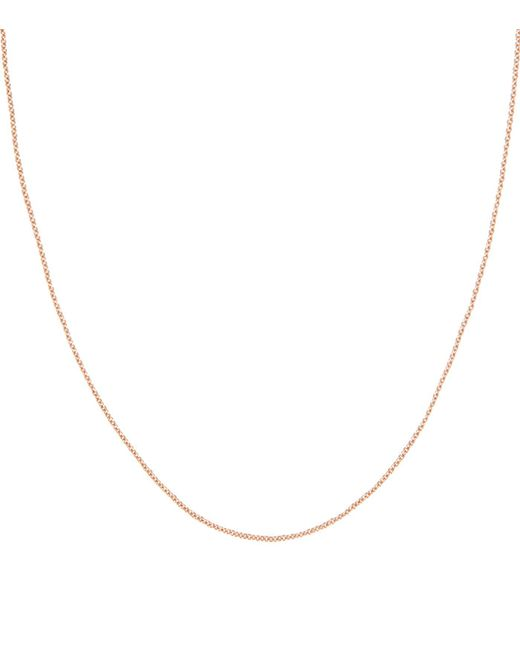 Monica Vinader - Pink Rose Gold Plated Rolo Chain - Lyst