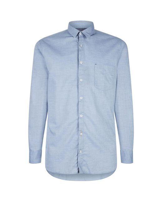 BOSS Orange - Blue Slim-fit Shirt for Men - Lyst