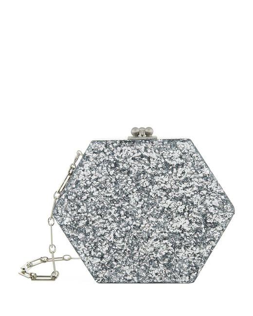 Edie Parker | Metallic Macy Hexagon Acrylic Clutch | Lyst