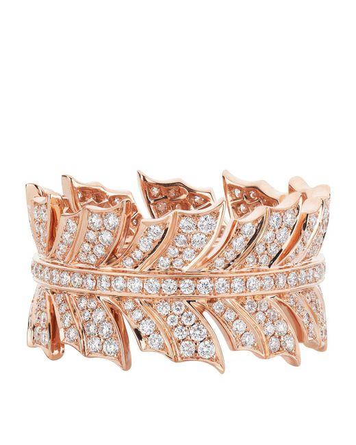 Stephen Webster   Metallic Magnipheasant Diamond Pav Feather Ring   Lyst
