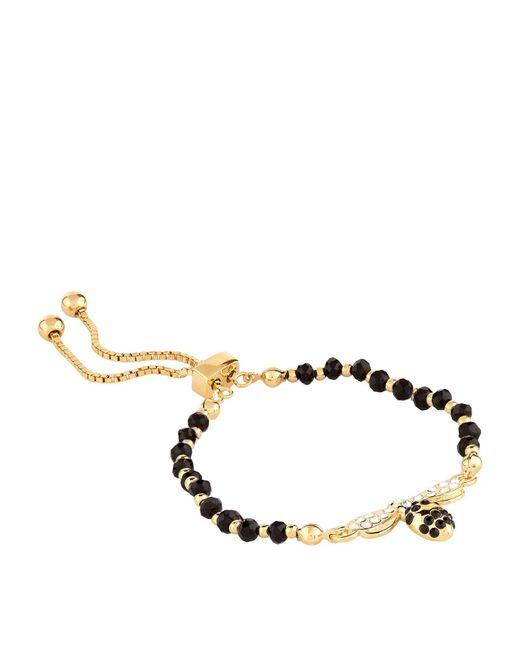 Halcyon Days - Black Bumble Bee Friendship Bracelet - Lyst