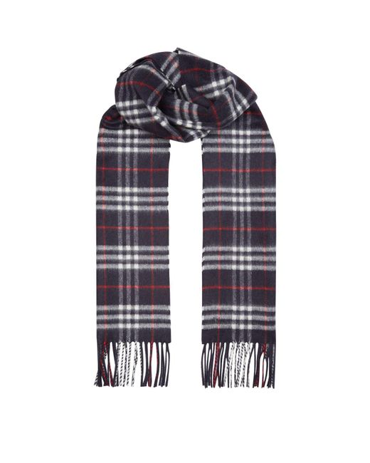 Burberry - Blue Vintage Check Cashmere Scarf for Men - Lyst