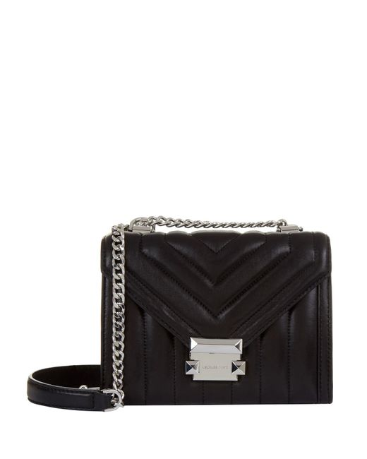 MICHAEL Michael Kors - Black Small Whitney Quilted Leather Shoulder Bag - Lyst