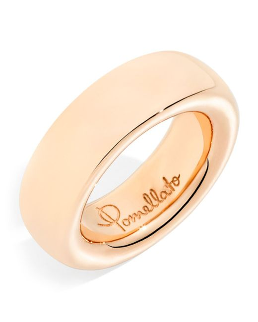Pomellato - Metallic Narrow Rose Gold Iconica Ring - Lyst
