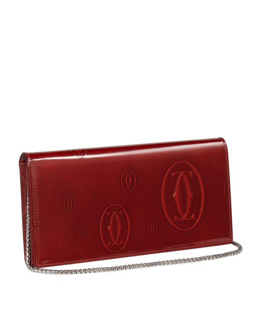 Cartier - Red Happy Birthday International Chain Strap Wallet - Lyst