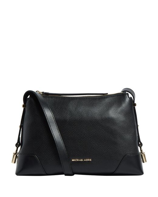 MICHAEL Michael Kors - Black Medium Leather Crosby Messenger Bag - Lyst