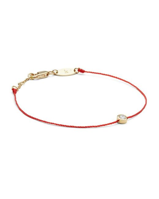RedLine | Yellow Gold And Diamond Pure Bracelet With Red Thread | Lyst