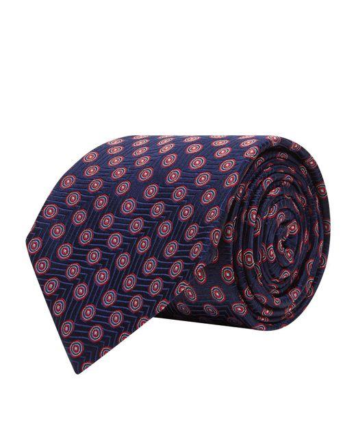 Turnbull & Asser - Blue Geometric Circle Silk Tie for Men - Lyst