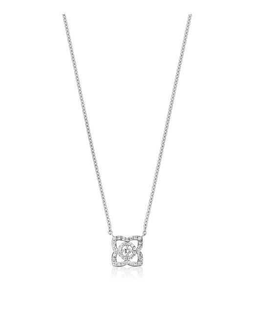 De Beers - Metallic Small White Gold Enchanted Lotus Pendant - Lyst