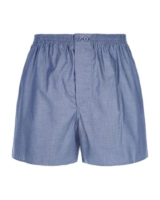 Zimmerli | Blue Honeycomb Print Boxer Shorts for Men | Lyst