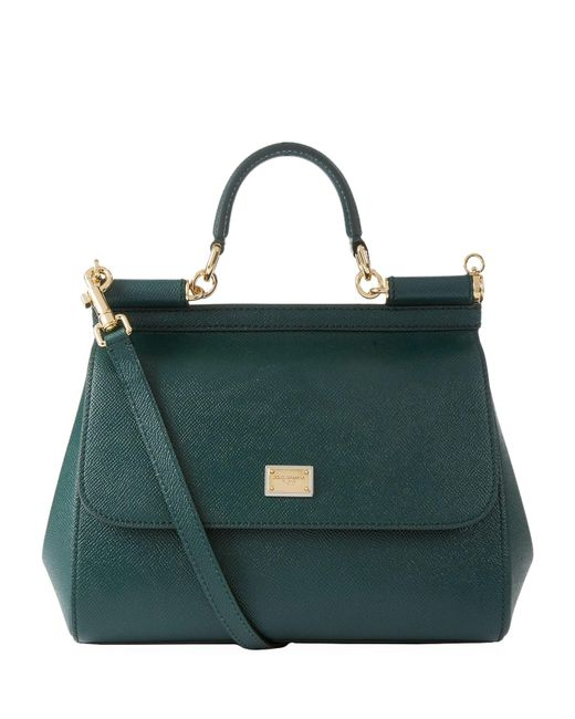 ... Dolce Gabbana - Green Medium Leather Sicily Bag - Lyst meet 4c18a 85e3c  ... e1f6db3fb5