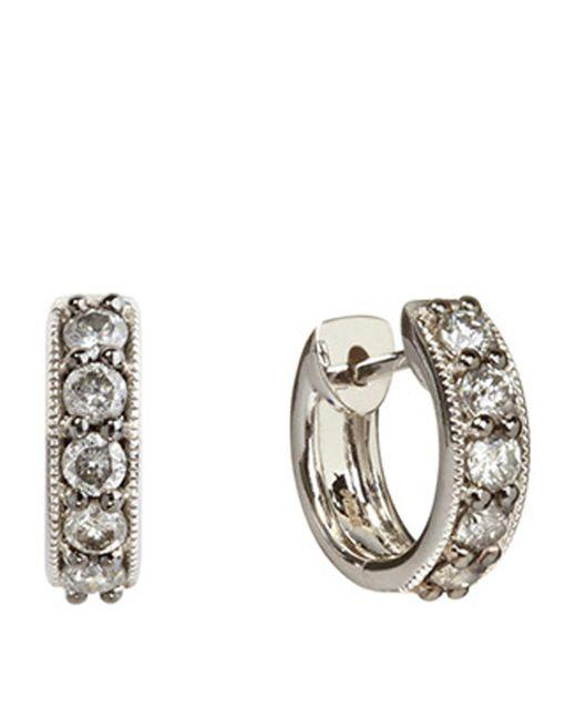 Annoushka - Metallic Dusty Diamonds Mini Hoop Earrings - Lyst
