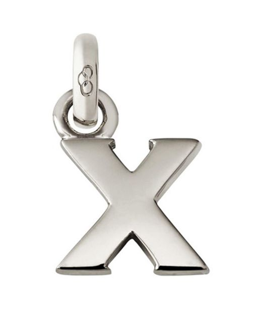 Links of London - Metallic Sterling Silver Letter X Charm - Lyst
