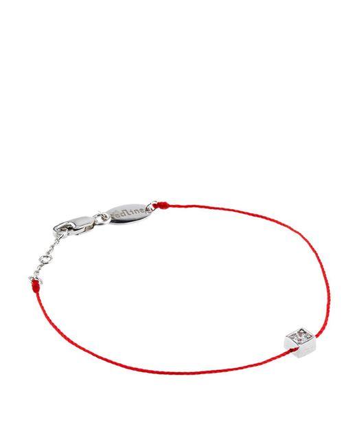 RedLine - Red White Gold Cube Bracelet - Lyst