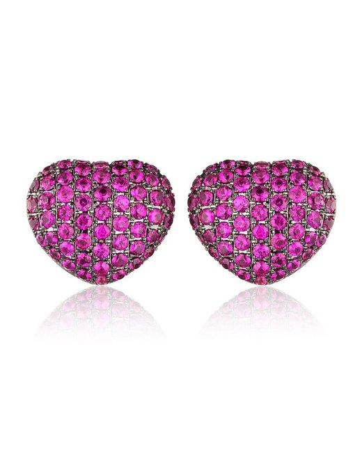 Theo Fennell | Purple Ruby 'art Earrings | Lyst