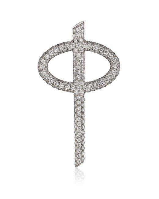 Theo Fennell | Metallic Diamond Phi Pendant | Lyst
