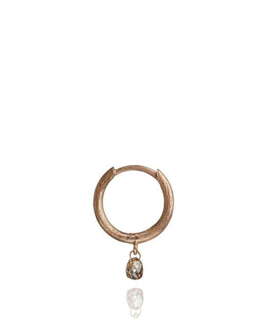 Annoushka - Pink Hoopla Diamond Hoop Single Rose Gold Earring - Lyst