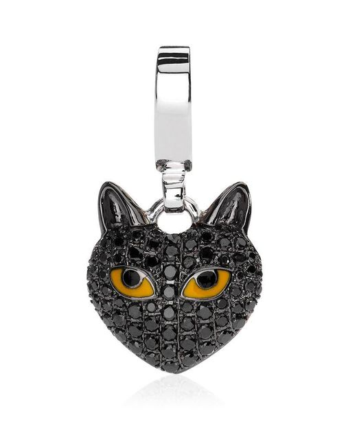 Theo Fennell | Metallic Black Cat Charm | Lyst