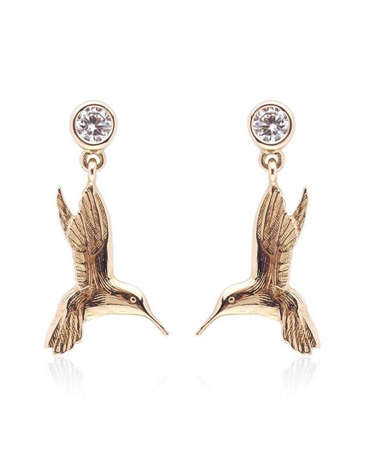 Theo Fennell | Metallic Hummingbird Drop Earrings | Lyst