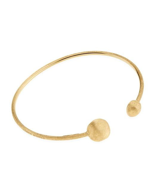 Marco Bicego | Yellow Africa Gold Boule Open Bangle | Lyst