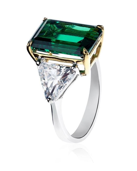 Carat* | Metallic Emerald Green Ring | Lyst