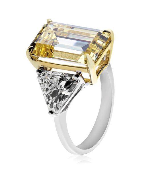 Carat* | Metallic Yellow Trilogy Ring | Lyst