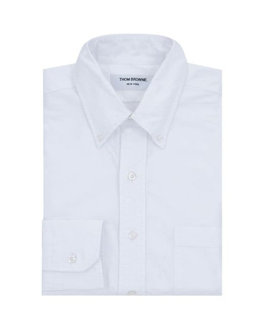 Thom Browne - White Armbands Cotton Collar Shirt for Men - Lyst