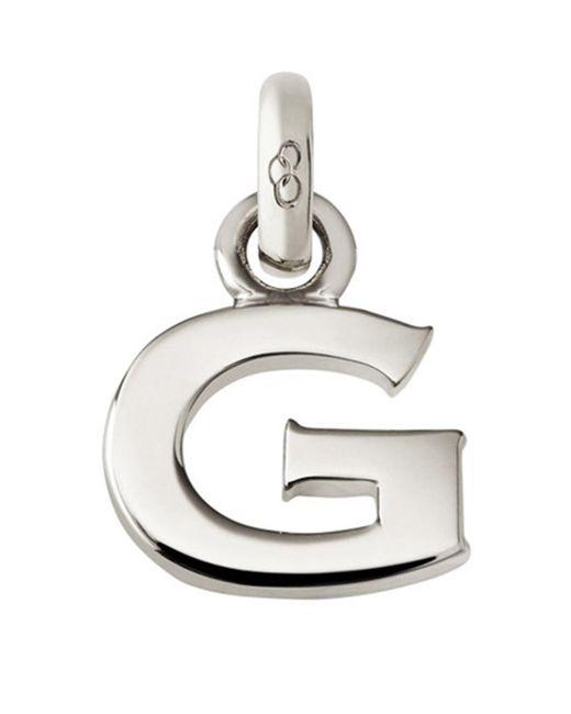 Links of London - Metallic Sterling Silver Letter G Charm - Lyst
