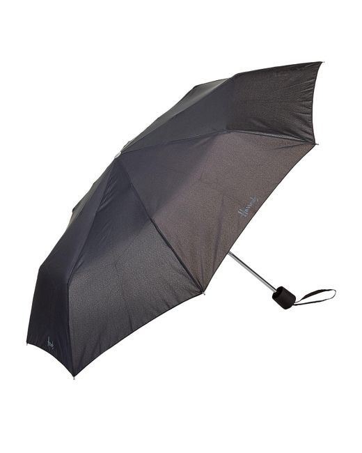 Harrods - Black Logo Umbrella - Lyst