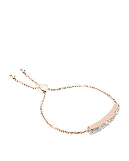Monica Vinader - Pink Baja Chain Diamond Bracelet - Lyst