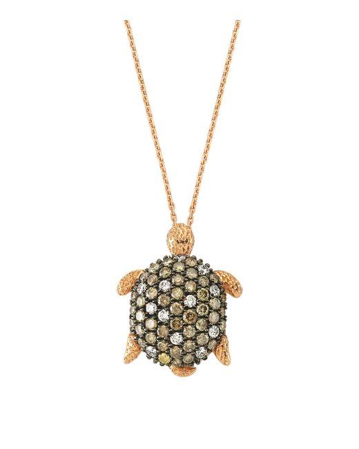 Bee Goddess | Brown Diamond Turtle Necklace | Lyst