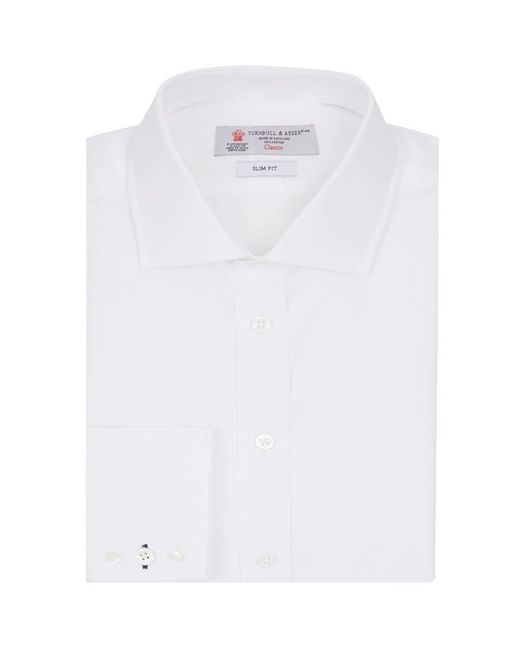 Turnbull & Asser | White Regent Poplin Button Cuff Shirt for Men | Lyst