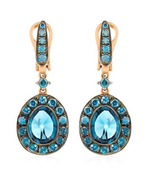 Annoushka   Blue Dusty Diamonds Topaz Drop Earrings   Lyst