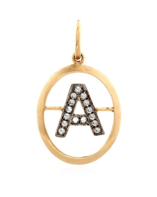 Annoushka | Metallic 18ct Yellow-gold And Diamond A Pendant | Lyst