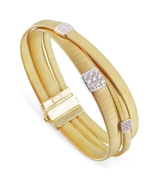 Marco Bicego | White Masai Triple Band Diamond Bracelet | Lyst