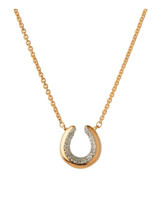 Links of London | Metallic Ascot Diamond Essentials Horseshoe Necklace | Lyst