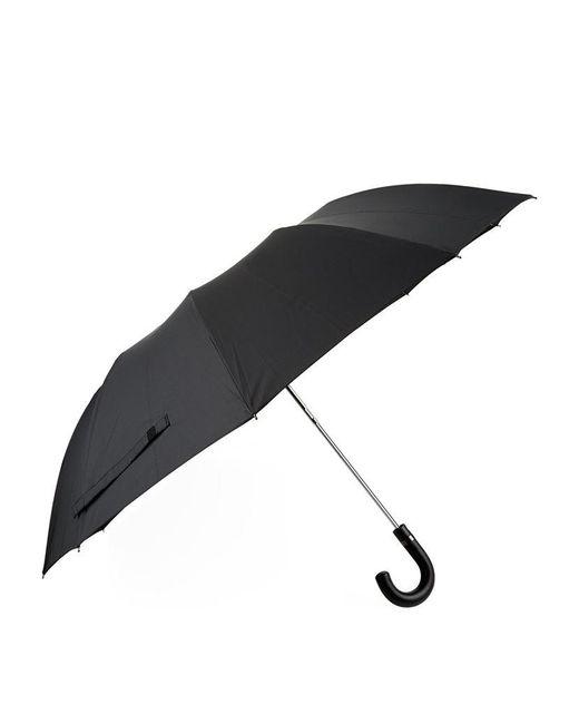 Harrods   Black Leather Handle Umbrella   Lyst