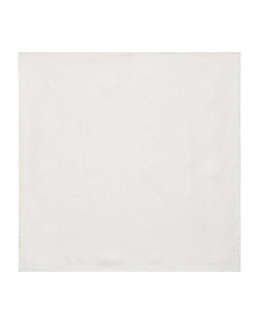Canali - White Silk Pocket Square - For Men for Men - Lyst