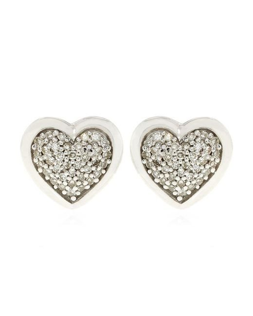 Links of London | Metallic Diamond Essentials Pave Heart Stud Earrings | Lyst