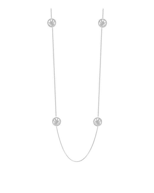 Theo Fennell | White Palm Diamond Disc Necklace | Lyst