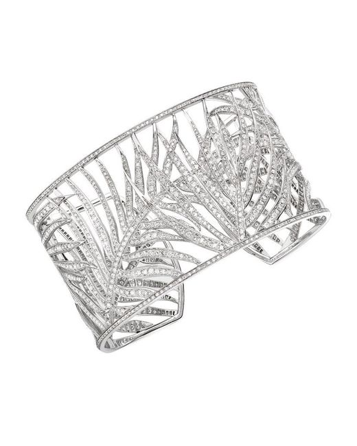Theo Fennell | White Palm Diamond Cuff | Lyst