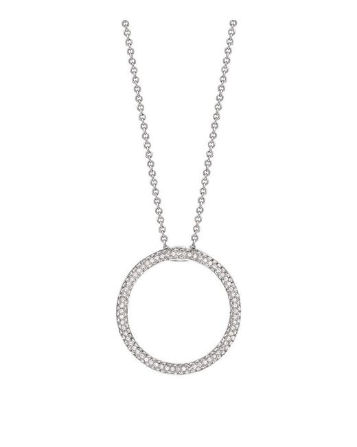 Theo Fennell | Metallic Diamond Blaze Circle Pendant | Lyst