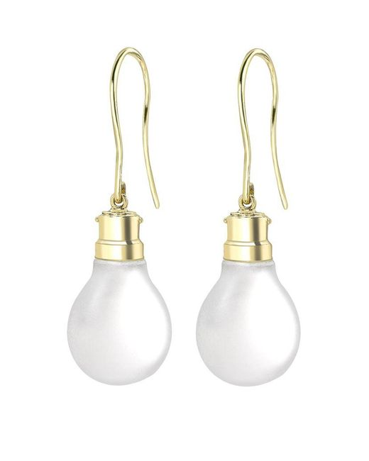 Theo Fennell | Metallic Light Bulb Drop Earrings | Lyst