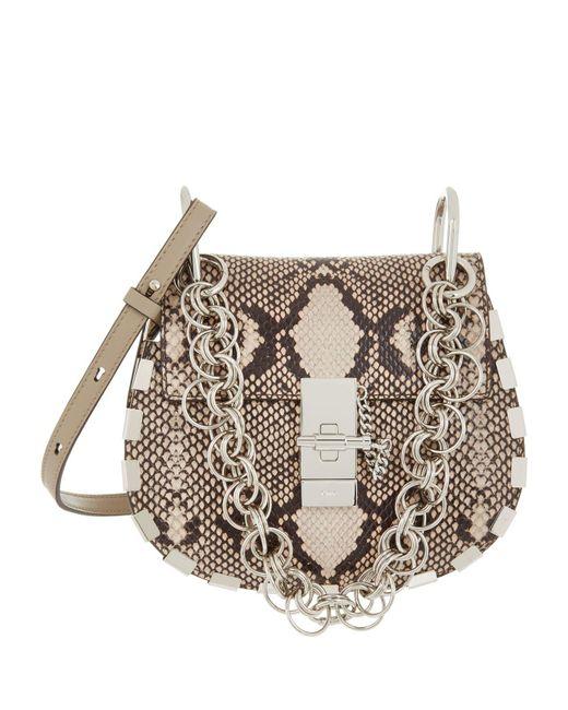 Chloé - Gray Mini Drew Bijou Shoulder Bag - Lyst